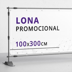 Lona 100x300 cms
